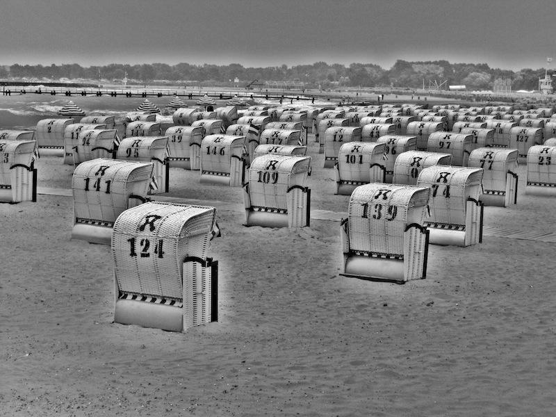 Travemünde Strandkörbe Gegenlicht